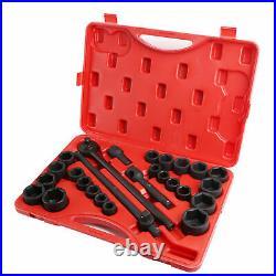 Pro 27pc Impact Socket Set 3/4 Drive Metric SAE Standard Automotive Mechanic