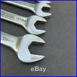 READ Vintage John Deere USA 10 Piece Running Deer Combination Metric Wrench Set
