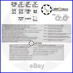 Ratchet Socket Set 1/2 3/8 1/4 216pcs AS-DRIVE Yato YT-38841 + Various SETS