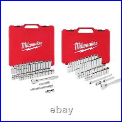 Ratchet and Socket Set 3/8 in. And 1/4 in. Drive SAE/Metric Tool Set 106-Piece