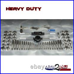 SAE Metric Tap Die Set Jet Ski Truck Car Standard Screw Extractor Thread Kit