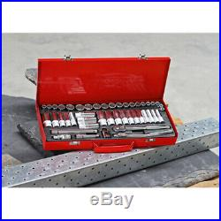 SEALEY 45 Piece 3/8 Metric & Imperial AF Socket Set & Ratchet + Case, AK692