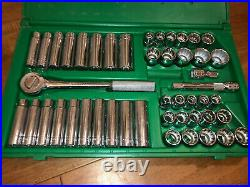SK Hand Tools 4147 47Pc 1/2Dr 12Pt Standard and Deep SAE and Metric Socket Set