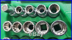 SK Hand Tools 4147 47pc 1/2 Dr. 12pt ShallowithDeep Combination Chrome Socket Set