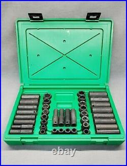 SK Tools 4090 3/8 Dr. 6pt Standard/Deep Metric/SAE 40 piece Impact Socket Set