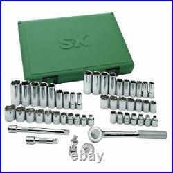 SK Tools 94549 3/8 Drive 6 Point Standard and Deep SAE / Metric Socket Set