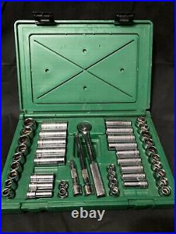 SK Tools Socket Set 45pc 3/8 Deep/Standard Metric/Fractional 94547 USA