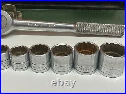 SK Tools Wayne 19pc Socket Set & Ratchet Lot 3/8 Drive Metric & SAE USA