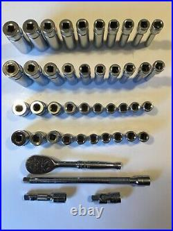 SNAP ON 44 Piece 1/4Dr 6Pt Metric/ SAE General Service Set WithCaseMINTFRE SHIP