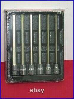 SNAP-ON 6 pc 3/8 Drive Metric Extra-Long Allen Key/Hex Bit Socket Set