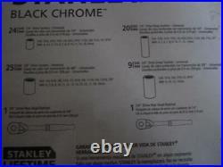 STANLEY 123-PIECE MECHANICS BLACK CHROME TOOL SET(STANDARD SAE METRIC) withCASE
