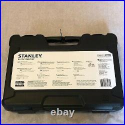 STANLEY 123-Piece Mechanics Tool Set Black Chrome Universal Ratchet STMT72254W