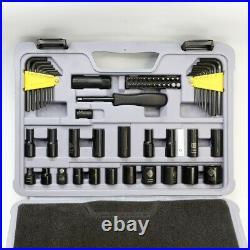 STANLEY Mechanics Tool Set, Black Chrome STMT72254W Universal Ratchet 123-Piece
