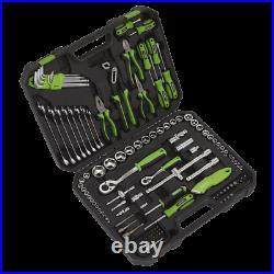 SUM21 Sealey Toolkit Toolset 135pce BLACK HI-VIS GREEN Lifetime Guarantee