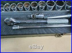 S-K 1/2Dr SAE Socket Set, 20Pc, 7/16-1-1/4, USANICE #SK2.9.20DC
