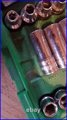 S&K 1/4 drive, 44pc Socket Set, SAE and Metric, Deep and Shallow #91844