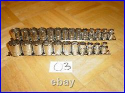 S-k Tools 25 Piece 3/8 Dr. Sae. & Metric Short Socket Sets 8mm-19mm, 1/4 To 7/8