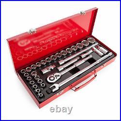 Sealey Premier Deluxe 32 Piece 1/2in Drive WallDrive MM / SAE Socket Set AK693