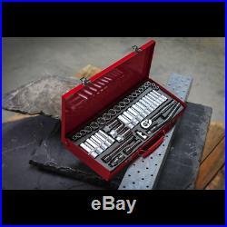 Sealey Tools AK692 3/8 Drive Socket Set Metric Imperial 6 Six Point Std & Deep