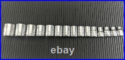Sk Tools 15-piece 3/8-drive Sae 12-point Shallow Socket Set 7-21mm USA
