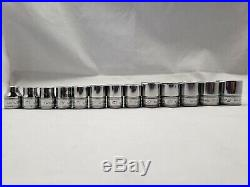 Snap On 13 Piece 3/8 Drive Metric Shallow Sockets FSM Series 6 Point Tools