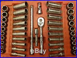 Snap On 1/4 Dr 44pc 144TMPB 6-point METRIC SAE General Service Set