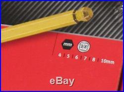 Snap On 3/8 Drive Metric Allen Key Hex Bit Long With Ball End Socket Set