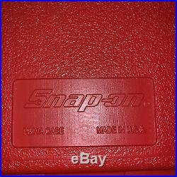 Snap On 44 Pc 1/4 Socket Set Metric & SAE Deep & Shallow Socket Set 144TMPB