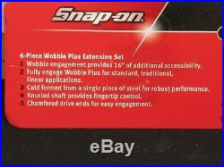Snap On Genuine 1/4 Drive Wobble Plus Extension Set 6 Piece Set 106atmxwp