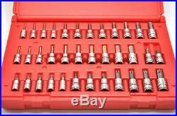 Snap On Master Allen Hex Torx Socket Driver Set SAE Metric 1/4 3/8 Dr 36pc New