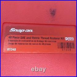 Snap-On Rethreading Kit 48 Piece Tread Restore RTD48 SAE Standard Metric