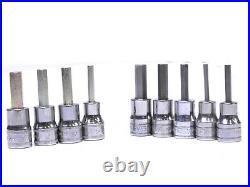 Snap-On Standard Hex Bit SAE & Metric Socket Set 3/8 Dr. 9 Pcs