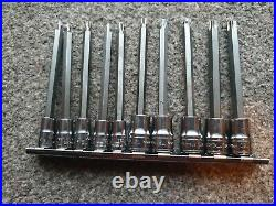 Snap On Tools 10 Piece Long Torx Socket Set T8 T50 Part Number 210EFTXL