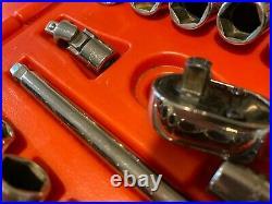 Snap On Tools-144tmpb 44 Piece 1/4 Drive Socket Set Metric & Sae Very Nice