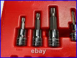 Snap On Tools 237hextorxst 37 Pce Socket Set 3/8 1/4 Torx Hex Standard Stubby