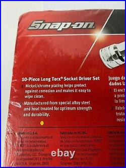 Snap On Tools Long Torx Sockets 210eftxl 10 Pc Set T8/10/15/20/25/27/30/40/45/50