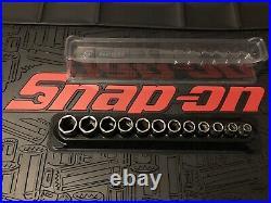 Snap-on 3/8 Flank Drive Shallow Sockets 8-19mm Set 212FSMY 12pc