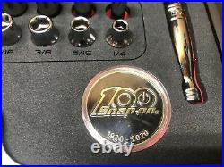 Snap-on Tools USA RARE GOLD 3/8 Drive 100th Anniversary Set 51 Piece with INSERT
