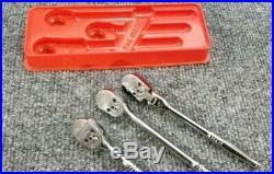 Snapon Tools 1/4 3 Pc Ratchet Set & Holder USA