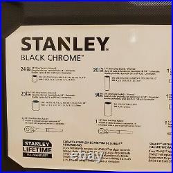 Stanley 123 Piece Mechanics Tool Set Chrome Standard SAE Metric Hard Case NEW