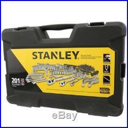 Stanley 201 pcs. SAE Metric Mechanics Chrome Garage Standard Hard Case Tool Set