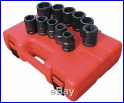 Sunex 11pc 3/4 SAE 6pt Truck Service Impact Drive Standard Sockets Set 4682