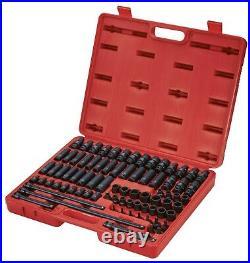 Sunex 3580 80pc 3/8 Dr. Master Deep Standard and Universal Impact Socket Set
