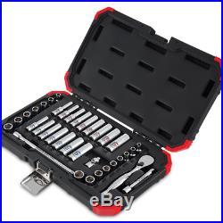 Sunex 36pc 1/4 Standard Metric 6pt Chrome Sockets Set SAE MM Hand Tools 1436