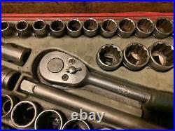 Teng 39 piece 1/2 socket set with Britool Ratchet 10mm 32mm & 3/8 1 1/4