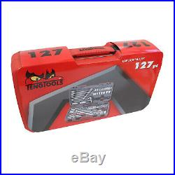 Teng LAST FEW SALE 127Pce ToolKit Professional 1/4 3/8 1/2 Dr Spanners Ratchets