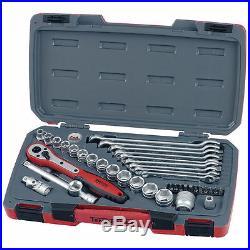 Teng T3840 3/8 Drive 40 Piece Metric Socket Set And Spanner Set Kit