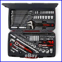 Teng Tools 127 Piece 1/4,3/8 and 1/2 Drive Tool Kit with Spanner Set TM127