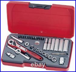 Teng Tools T1435AF 35pc 1/4 Drive Regular & Deep Imperial Socket Set