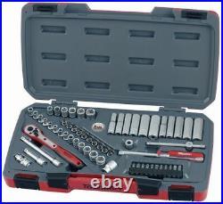 Teng Tools T1460 60pc 1/4 Drive Regular & Deep Socket & Bit Set Comprehensive